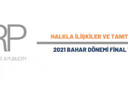 Halkla İlişkiler ve Tanıtım Bölümü 2021 Bahar Dönemi Final Takvimi