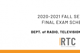Dept. of Radio, TV and Cinema - 2020-2021 Academic Year Fall Semester Make Up Exam Schedule