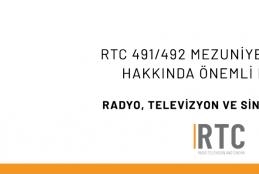 RTC 491/492 MEZUNİYET PROJESİ HAKKINDA ÖNEMLİ DUYURU