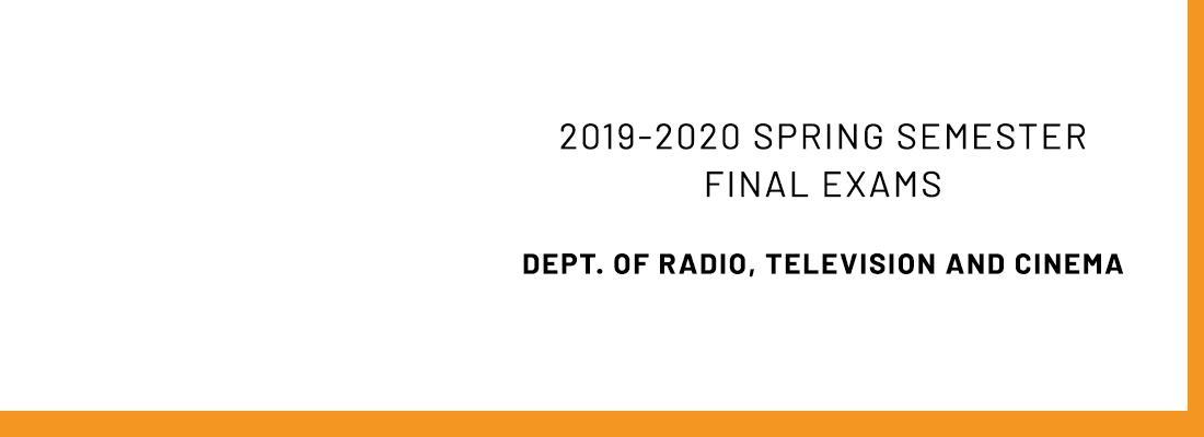 2019-2020 Spring Semester Final Exams Announcement