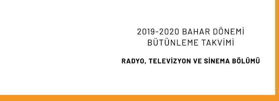 2019-2020 Bahar Dönemi Bütünleme Sınavları